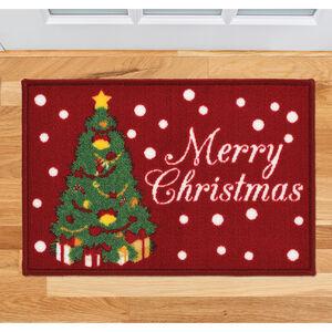 Merry Christmas Tree Doormat 40cm x 60cm