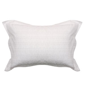 Mono Twine Oxford Pillowcase Pair - Grey