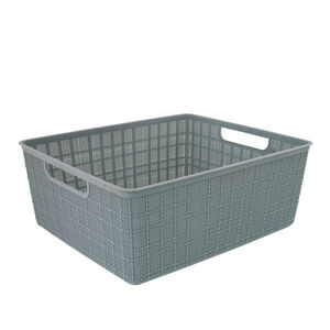 Hessian Blue Storage Basket 12L