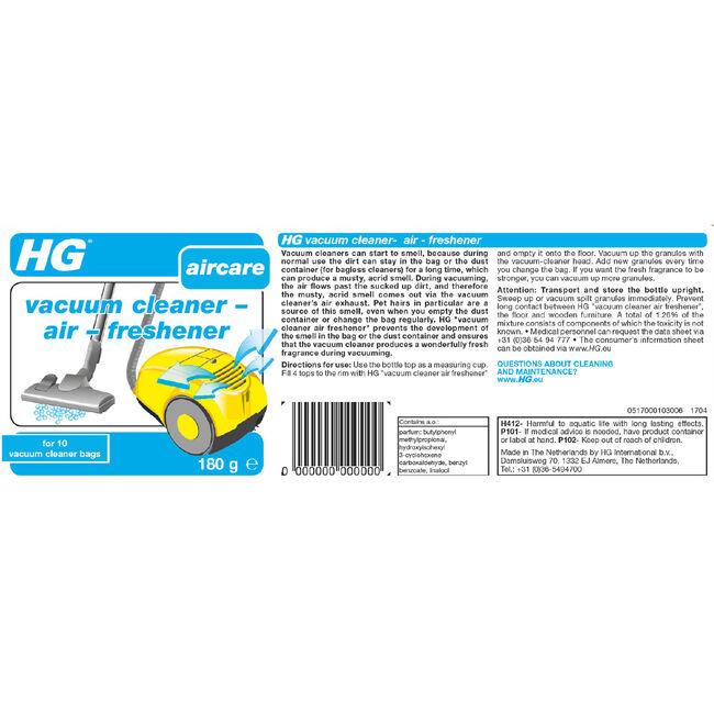 HG Vacuum Cleaner and Air Freshener 180g