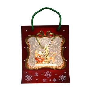 Light up Musical Christmas Gift Bag Scene