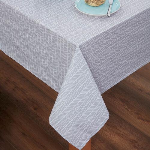 Two Tone PVC Tablecloth 160x230cm - Duck Egg/Grey
