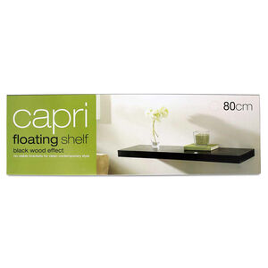 Capri Floating Wall Shelf Set 80cm Black