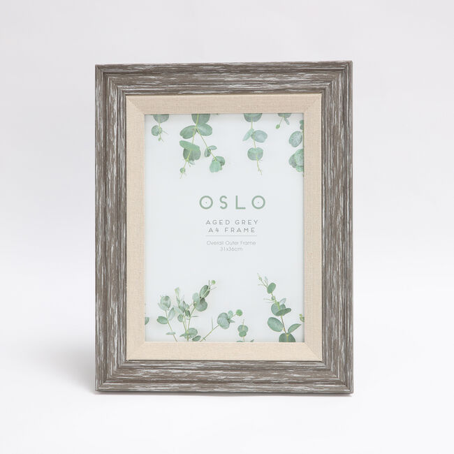 "Oslo Aged Grey Photo Frame 8x12"" (A4)"