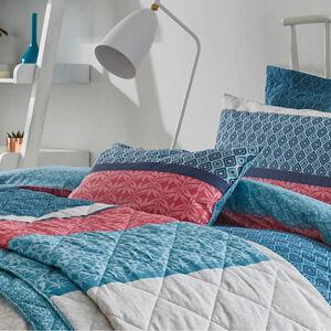 Annie Blue/Coral Cushion 30cm x 50cm