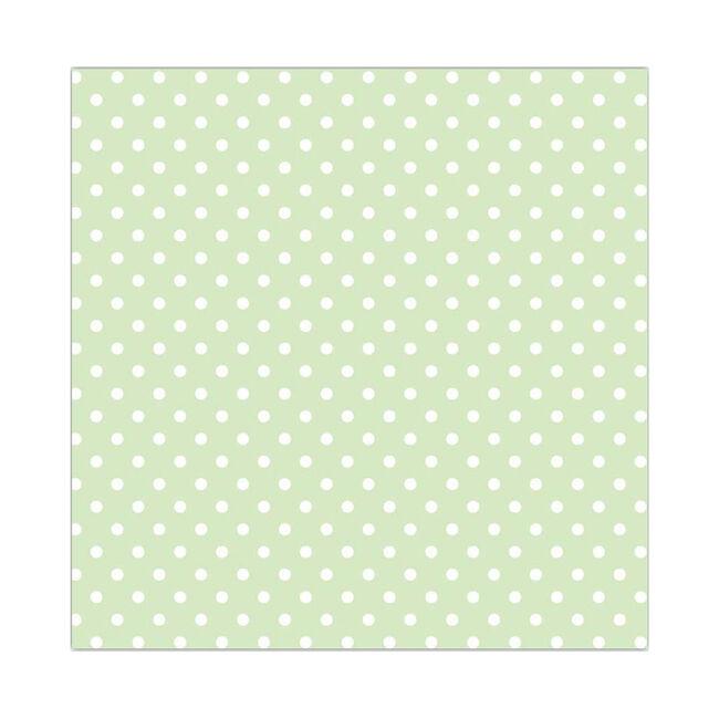 Polka Spot Pastel Napkins 20 Pack - Green