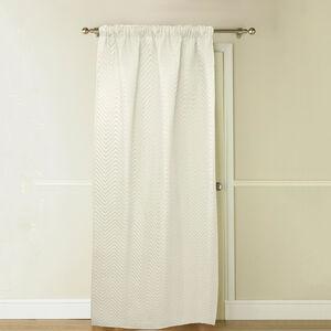 Chevron Marshmallow Thermal Door Curtain 117cm x 213cm