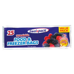 Sealapack Resealable Food & Freezer Bags