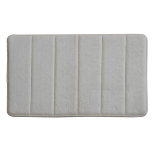 Memory Foam Bath Mat Cream 50cm x 80cm