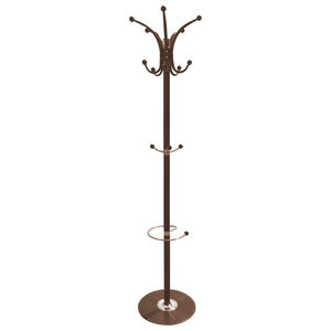 Holmes Brown Coat Rack with Black Base