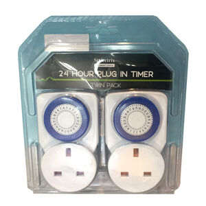 24 Hour Plug-in Timer Twin Pack
