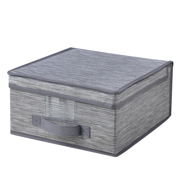 Clever Clothes Storage Box Charcoal 30x28cm