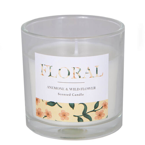Floral Anemone & Wild Flower Scented Candle