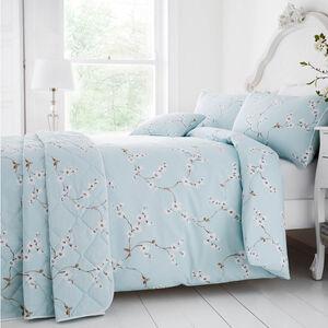 Blossom Duck Egg Bedspread