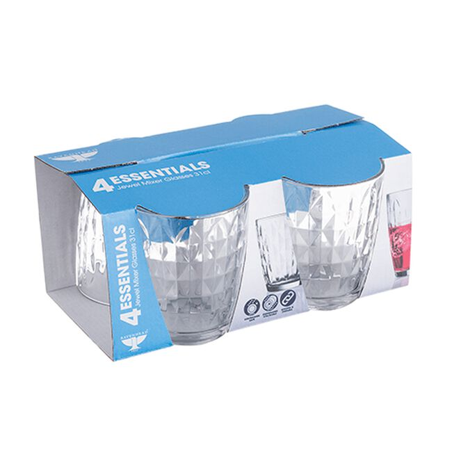 Essential Jewel 4 Hi-Ball Glasses