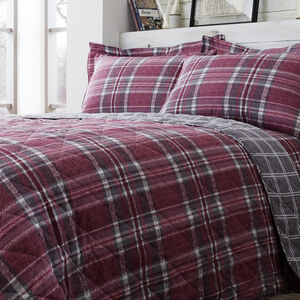 Brushed Cotton McGill Check Bedspread