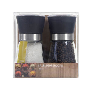 Coarse Salt & Black Peppercorn Mill Set