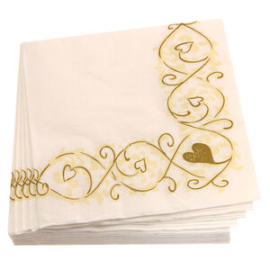 Hearts Swirl Napkins 20 Pack