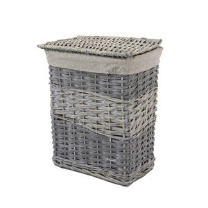 Rectangular Wicker Large Laundry Basket