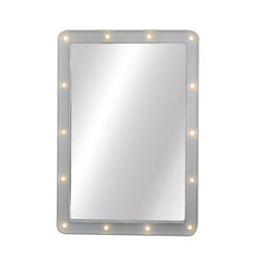 SPOTLIGHT White Mirror 50x70cm w/LED bulbs