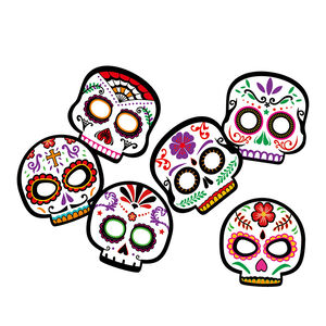 Day of the Dead Masks 6Pc