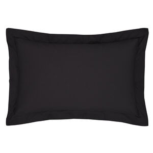 Luxury Percale Oxford Pillowcase Pair - Black