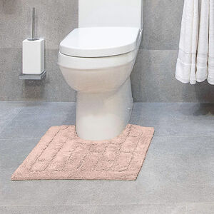 Cotton Brick Peach Pedestal Mat 50x50