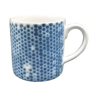 Heritage Honeycomb Blue Mug