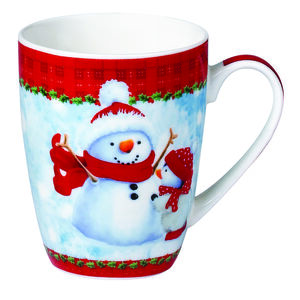 Love Christmas Snowman & Penguin Mug