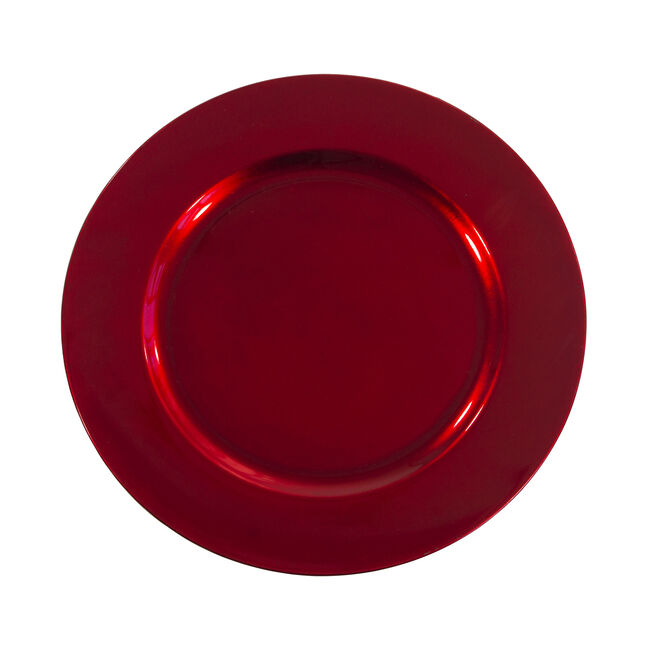Round Charger Plate Red