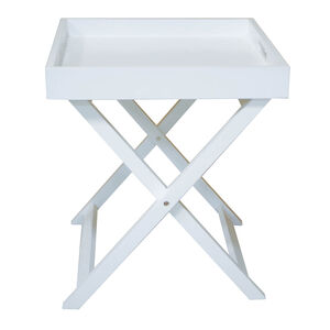 Butlers Small Table Tray - White
