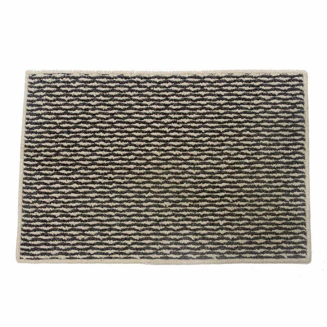 Sahara Ivory & Charcoal Doormat 50x80cm