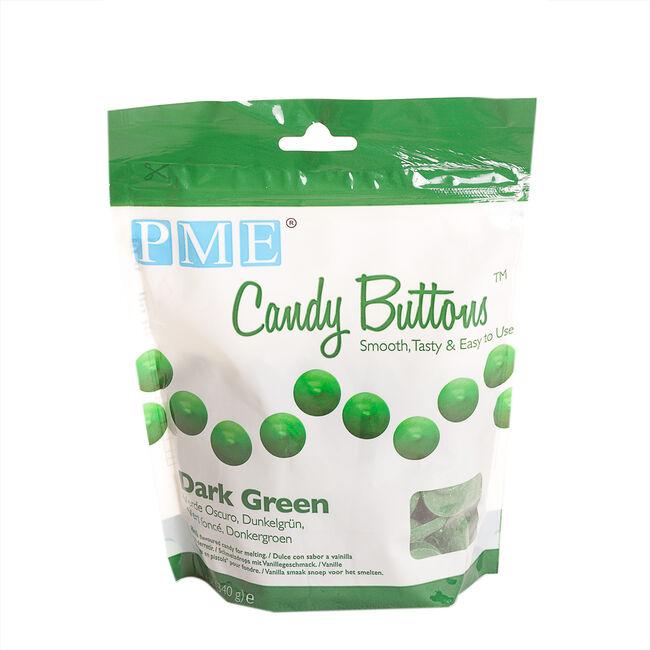 PME Candy Buttons 340g - Dark Green