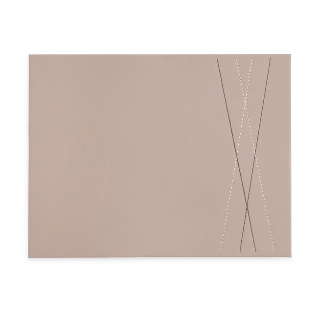 Reversible Diamond Placemats 4 Pack -  Brown/Taupe