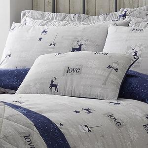 Christmas Love Navy Cushion 30cm x 50cm