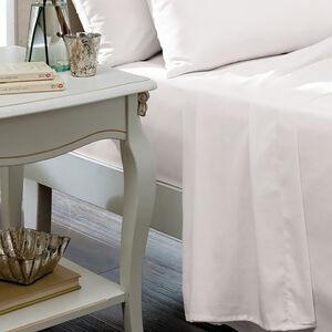 DOUBLE FLAT SHEET Luxury Percale White