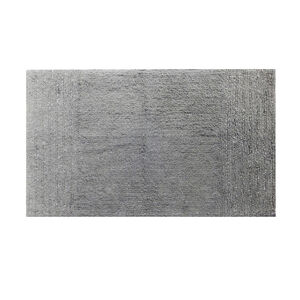 Cotton Metallic Frost Grey Bath Mat