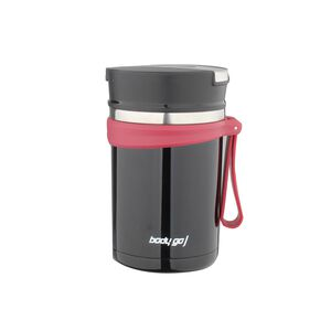 Bodygo Black Vacuum Food Jar 600ml
