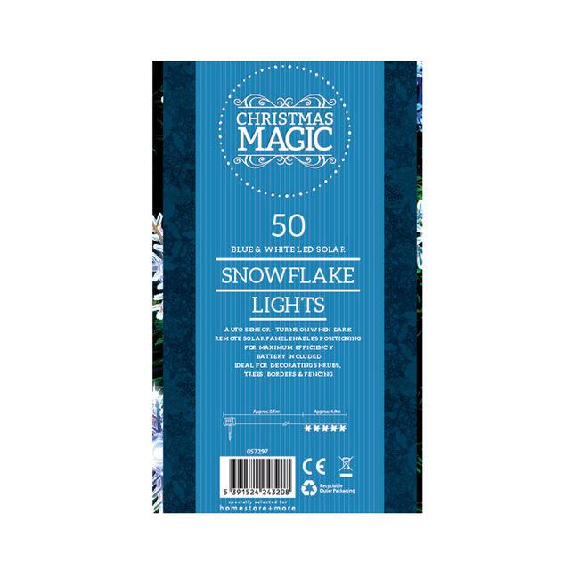50 Snowflake Solar Lights LED