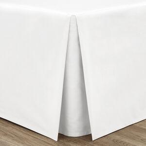 DOUBLE PLATFORM VALANCE Luxury Percale White