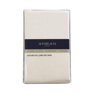 Oxford Pillowcase Pair Bamboo/Cotton Cream