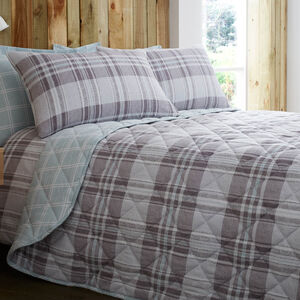 Brushed Cotton Donoghue Check Bedspread