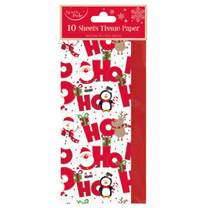 Ho Ho Ho Design Christmas Tissue Wrap