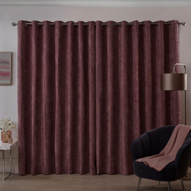 BLACKOUT & THERMAL HERRINGBONE BLUSH 66x54 Curtain