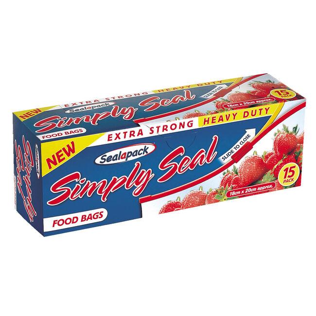 Sealapack Simply Seal Food Bags - 15 Pack