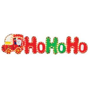 Ho Ho Ho Santa Train Rope Light