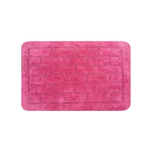 Cotton Brick Bath Mat Blush Pink