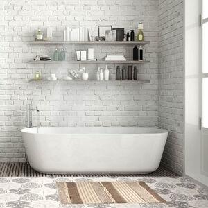 Ruffle Bath Mat 40x60cm- Natural