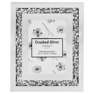 4x6 CRUSHED SILV Photo Frame 20X25cm
