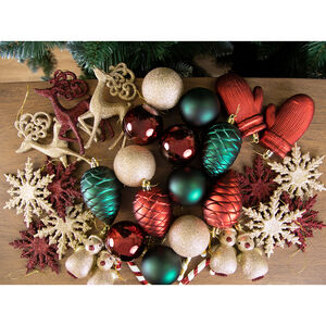 Assorted Bauble Set - 40 Pack